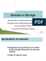 Suicide in Old Age