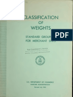 Classification of Weights