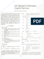 Efficient and Optimal Utilization of Capital Services