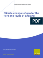 Climate change refugia for the flora and fauna of England