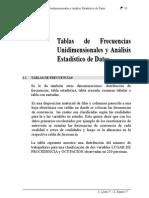 Cap. II Tablas de Frecuencias Unidim y Anal Dats