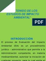 7.- Contenido de Los Estudios de Impacto Ambiental
