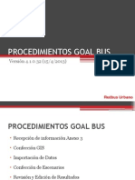 Procedimientos Goal Bus