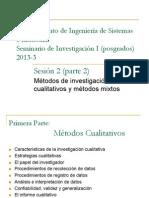 (3) Métodos cualitativos y métodos mixtos