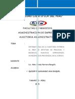 Informe Final de La Auditoria Interna Al Área de Jefatura de Personal y Recursos Humanos Dependencia