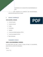 Informe CALOR ABSORBIDO DISIPADO
