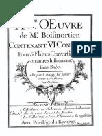 Boismortier Flauta 5 Ou Continuo