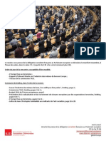 Briefing de plénière -  novembre 2015