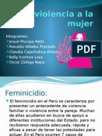La Violencia a La Mujer