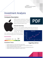 Apple Investment Analysis
