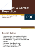 Teamwork & Conflict Resolution in the Christian Union