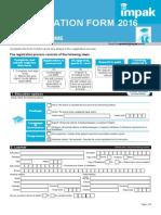 IMPAK 2016 Registration Form Full Programme