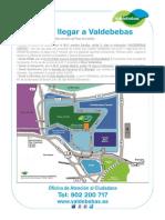 Como Llegar a Junta Compensacion Parque de Valdebebas Plano Mapa Carreteras 2013