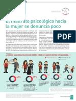 El maltrato psicológico hacia la mujer se denuncia poco