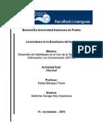 Ensayo sobre el uso de audiolibros como técnica en el aprendizaje del idioma Inglés en preparatorias de la BUAP