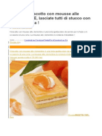 SUBLIME Biscotto Con Mousse Alle CLEMENTINE