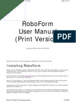 Robo Form Manual