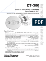 DT 300v3 360 Degree Dual Technology Low Voltage Occupancy Sensor Installation Instructions Spanish