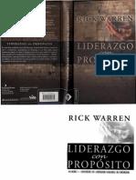 Liderazgo Con Propósito Rick Warren