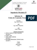 Informe de Ciclo de Controles Termicos