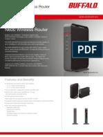 En DS AirStation Wireless Router Dual Band WZR-600DHP2-EU EMEA