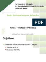 Aula17 - Protocolo IP -Parte 2