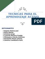 Tecnicas Para El Aprendizaje Activo