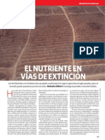El Nutriente en Vías de Extinción, Nature_noviembre_espanol