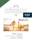 Performance Management at Vitality Health Enterprises