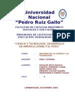 Monografia Ciencia y Tecnologia en America Latina y El Perú