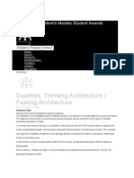 Dualities, Thinking Architecture Feeling Architecture