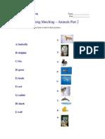 Beginning Matching - Animals Part 2