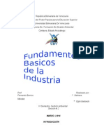 Fundamentos de La Industria