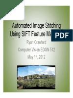 Automated Image Stitching Using SIFT Feature Matching