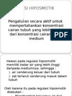 REGULASI HIPOSMOTIK