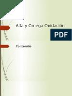 Alfa y Omega Oxidación