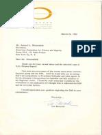 Letter to Sam Blumenfeld from Lee Edwards