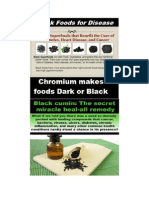 Black Foods -- How Are Your Chromium Levels