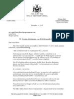 2015-11-24 AG Schneiderman - 421-A FOIL Request Denial Letter (Progress Queens)
