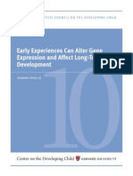 Early Experiences Can Alter Gene Expression and Affect Long Term Development