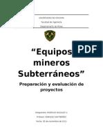 Equipos Mineria Subterranea