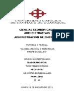 Tutoria II Parcial Estudios Contemporaneos