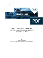 ACP2015 Report