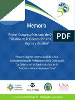 Memoria Congreso de Profesinales en Orientacion 2014