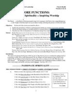 CH-13 Core Functn 3&5 - Passnt Spirit & Inspir Worship
