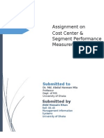 Cost Center & Segement Performance Measurement