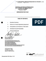 Stan Caterbone and Advanced Media Group Chapter 11 Reorganization Plan 50 Million Dollar Valuation for Case No. Case 05-23059 Filed January 12, 2010