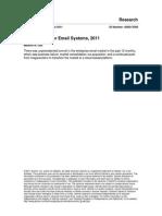 Gartner MarketScope for Email Systems, 2011