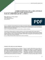 Una Propuesta Sobre Enseñanza de La Relatividad en El Bachillerato Como Motivación Para El Aprendizaje de La Física
