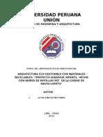 ARQUITECTURA ECO SOSTENIBLE CON MATERIALES RECICLABLES